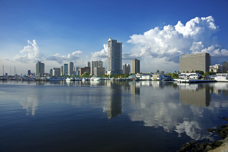 View of Marina and high-risers off Roxas Boulevard, Manila Bay, Manila City
