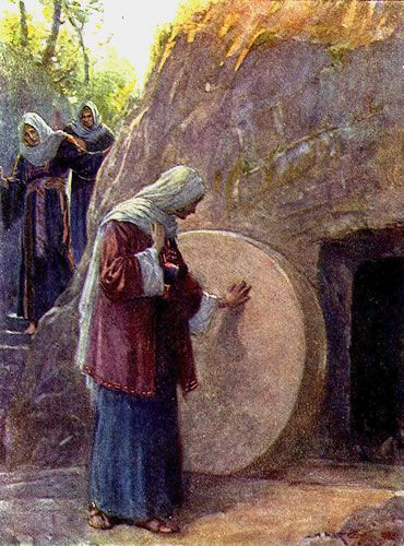 Mary Magdalene Vists Jesus' Empty Tomb
