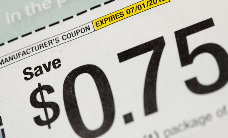 Close up of a manufacturer's shopping coupon