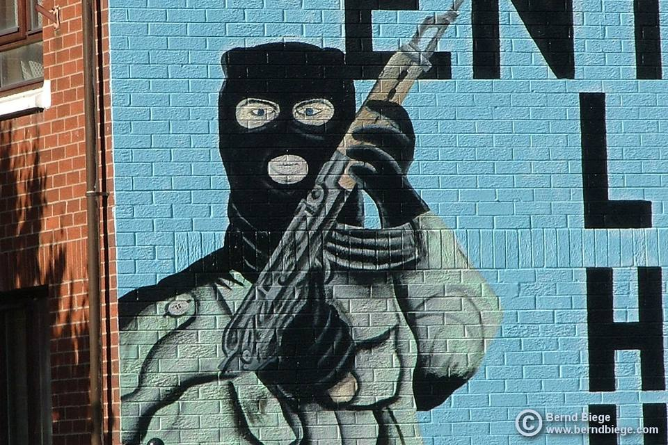 Balaclavas in Belfast - rarely seen today, and non-indigenous extremism is even rarer