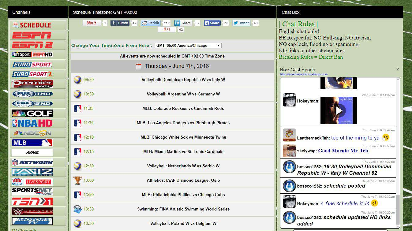 stream live sports on bosscast