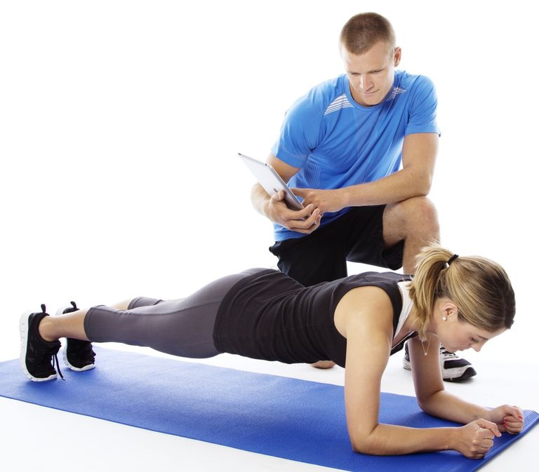 Front plank exercise
