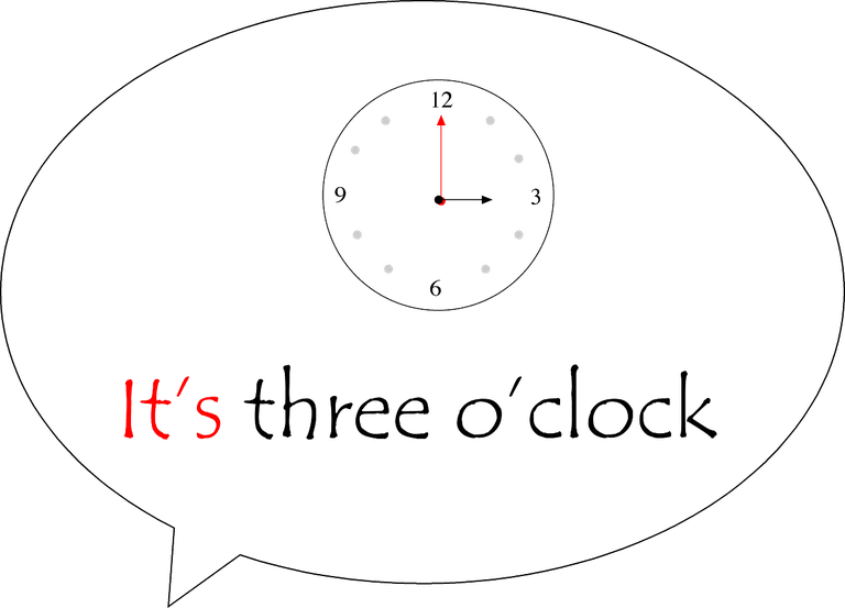It's three o'clock
