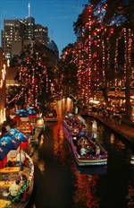 San Antonio's River Walk at Christmas