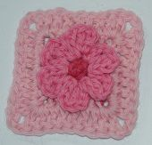 We Hope You Enjoy The Free Crochet Pattern for This Three-Dimensional Flower Granny Square.