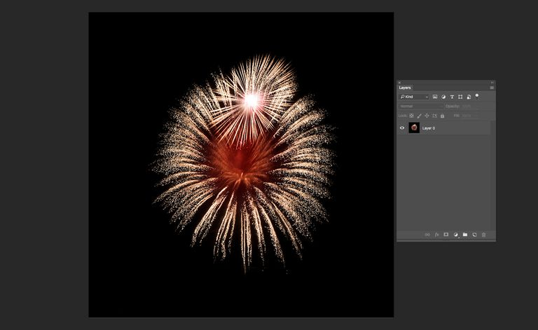 Image shows a fireworks explosion.