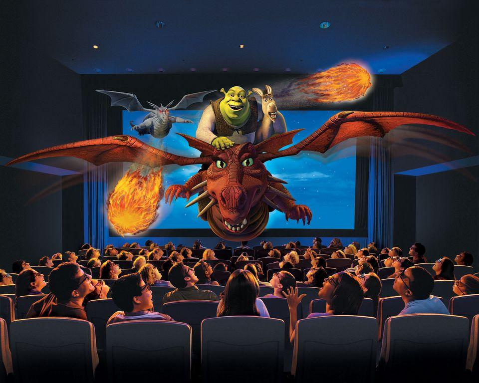 Shrek 4-D ride at Universal Studios