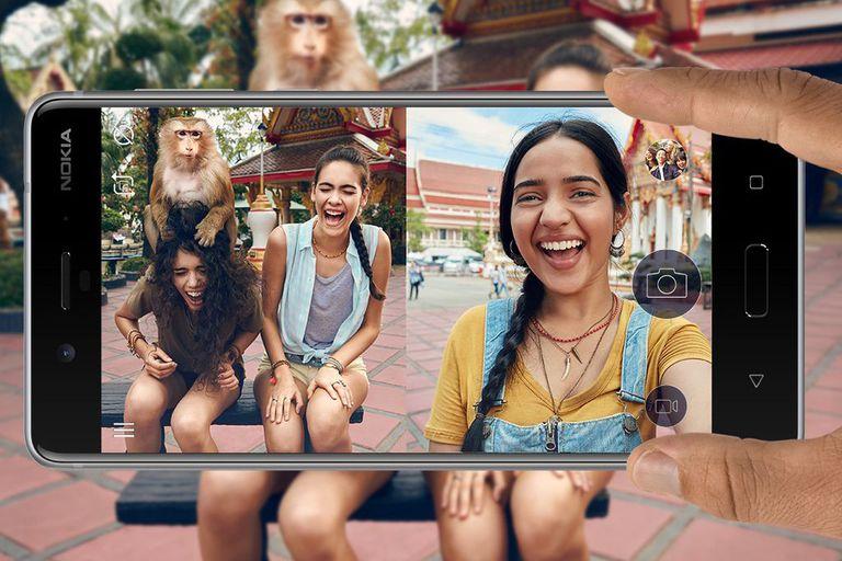 Dual sight Nokia 8