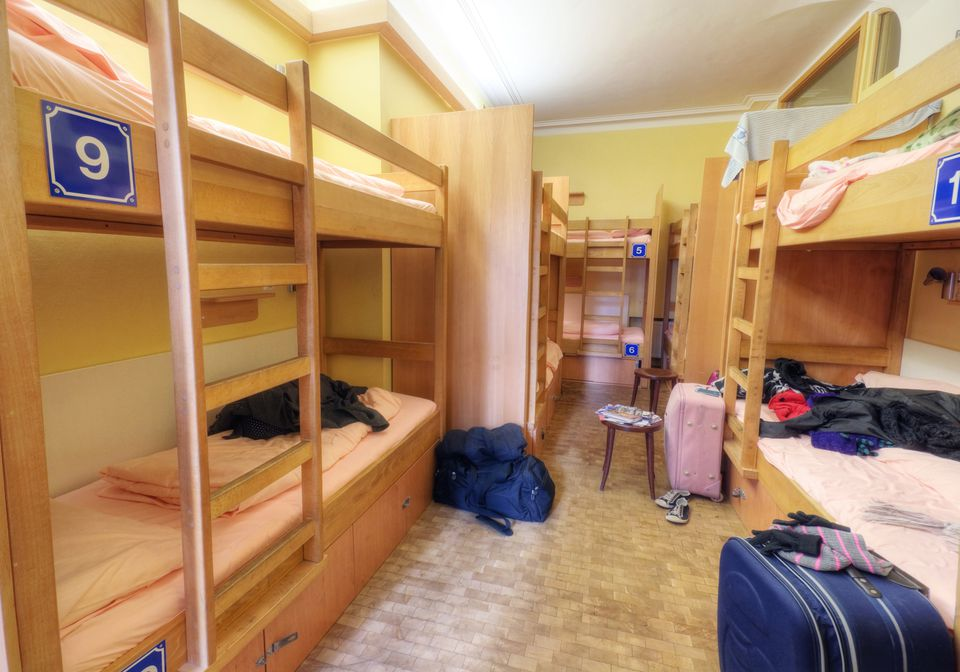 empty hostel dorm