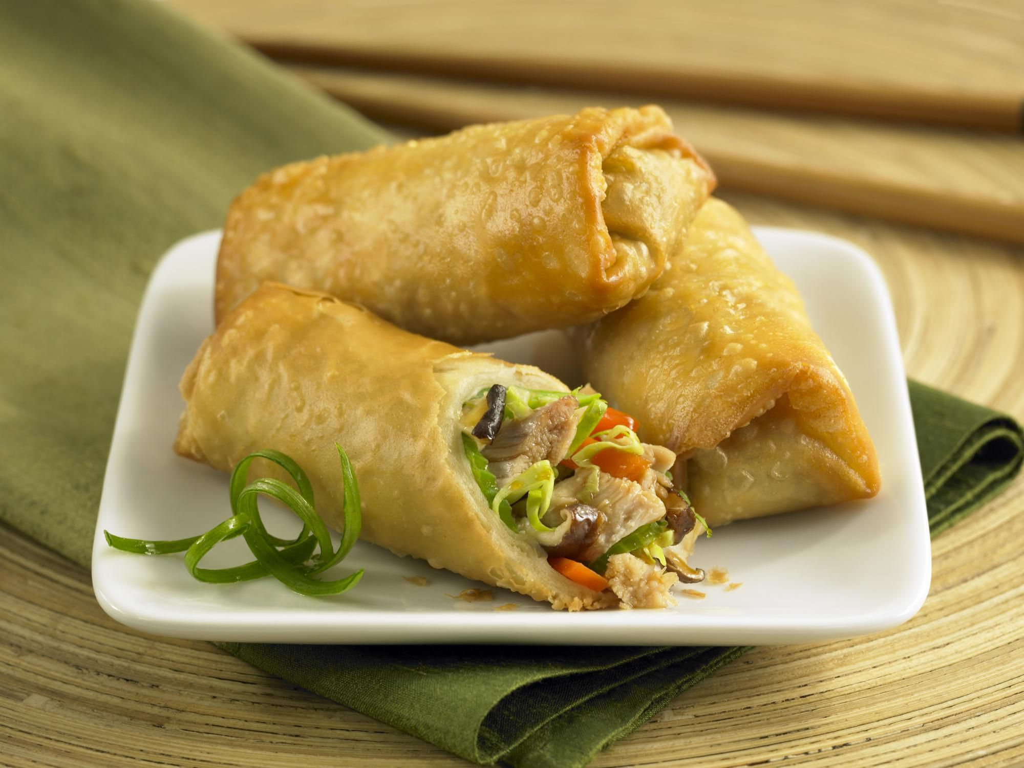 chinese spring roll recipe with barbecued pork