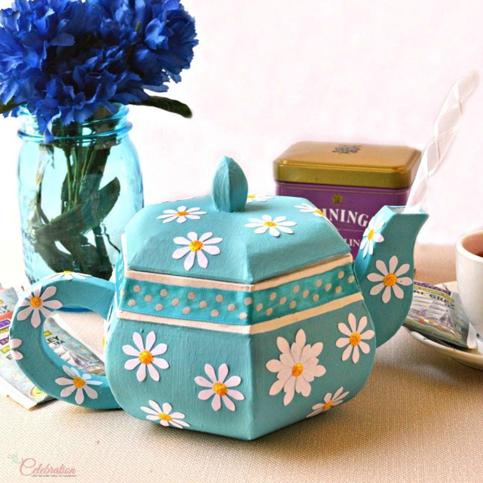 paper mache teapot gift box