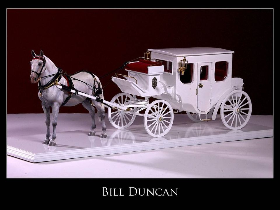 One of a kind model horse carriage hand made by Bill Duncan
