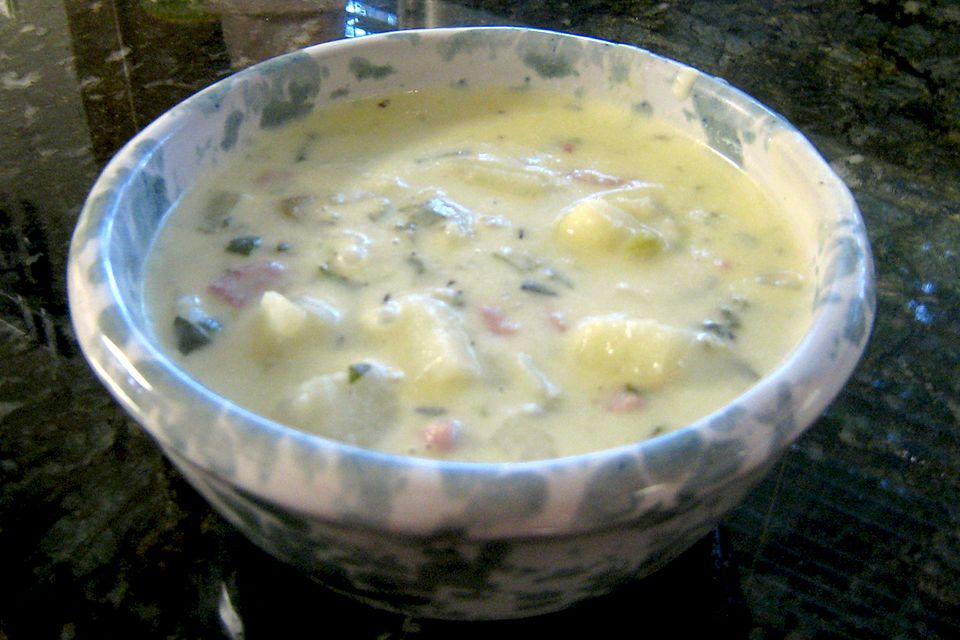 Potato, Fennel, and Country Ham Soup