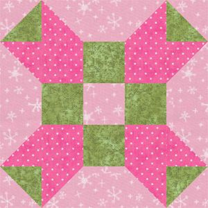 Fool's Square Quilt Block Pattern