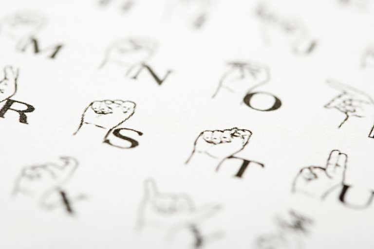 Sign language instructions