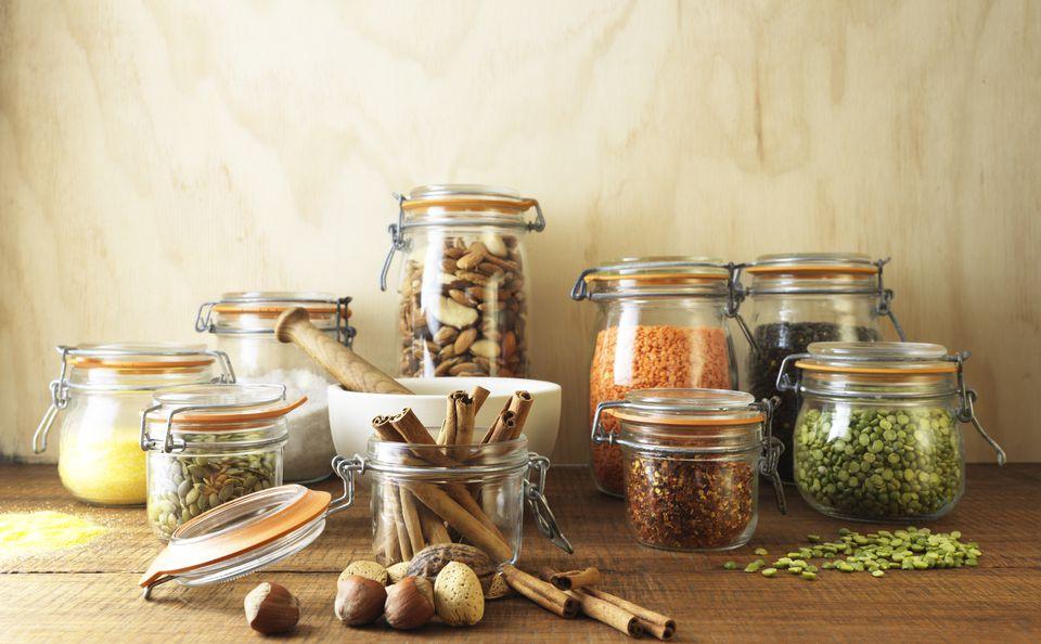 Vegetarian pantry staples