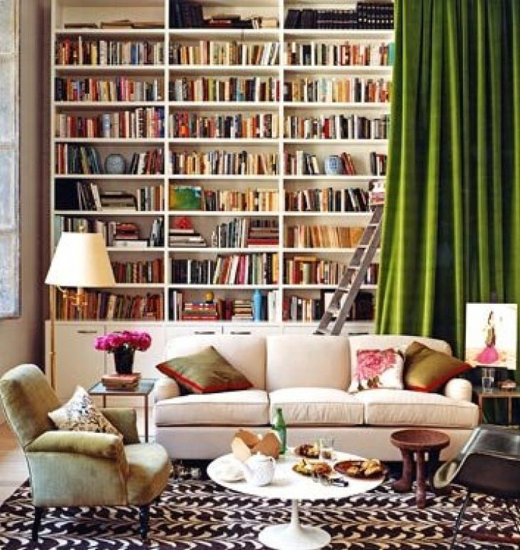 home library furniture. Home Library With Hideaway Curtain Furniture