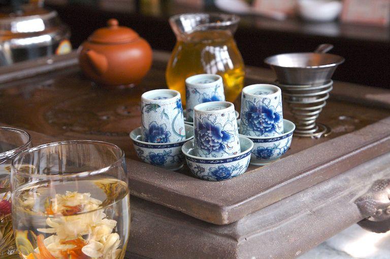 Traditional tea set