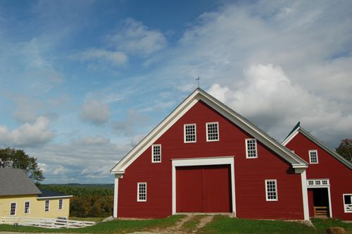 Picture of Sabbathday Lake Shaker Village in Maine.