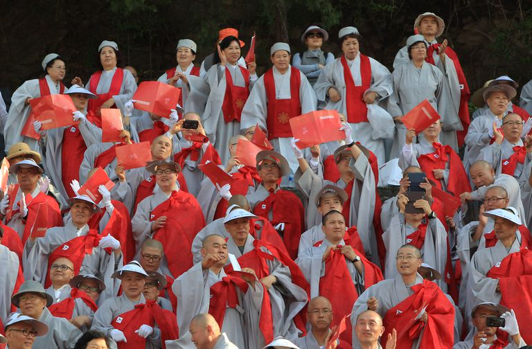 South Korean Monks and Nuns
