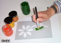 How to Use a Stencil Brush