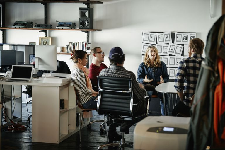 Woman leading a team meeting