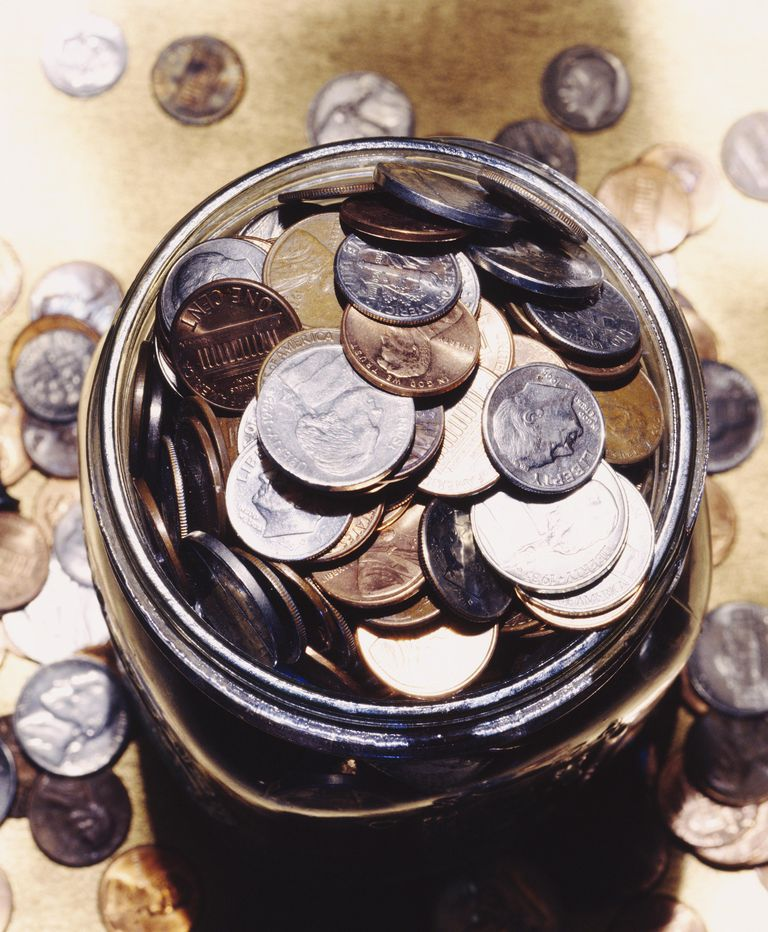 Coins in Jar