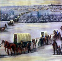 Mormon Trail Crossing the Mississippi on the Ice