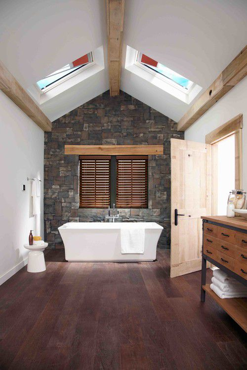 beautiful farmhouse bathroom - Flooring Bathroom Ideas