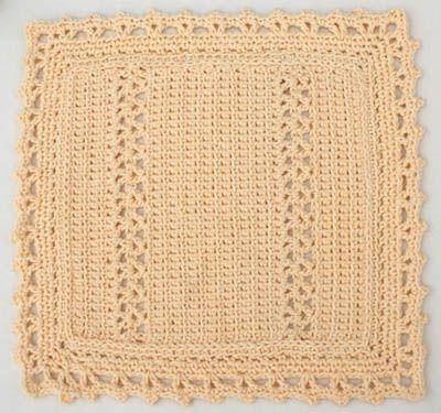 Free Cotton Dishcloth Crochet Pattern