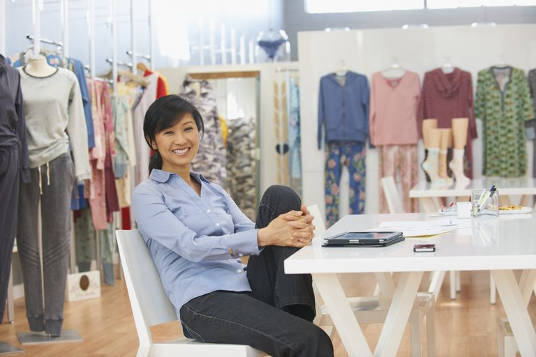 Smiling Chinese small business woman