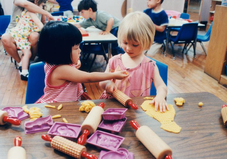 Lots of learning goes on in a preschool classroom -- through play, socialization, and more.