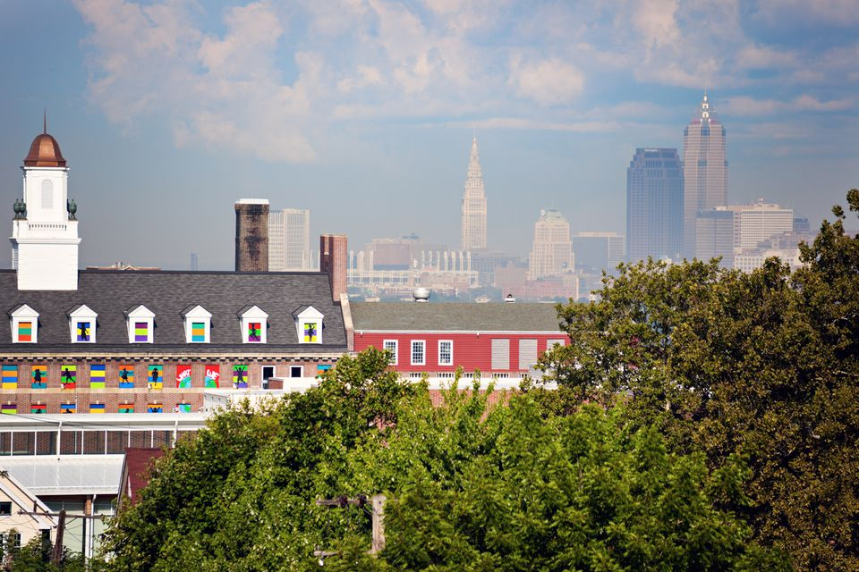Colorful architecture of Cleveland
