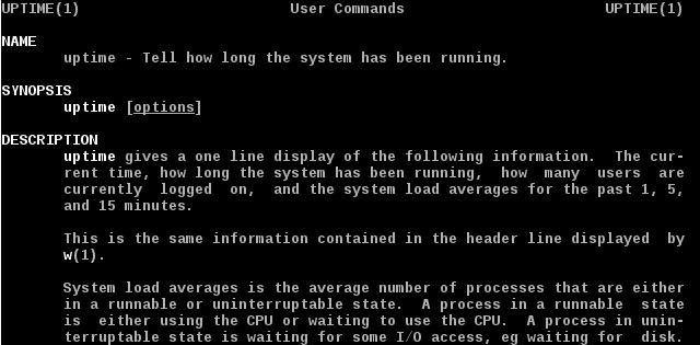 Linux uptime