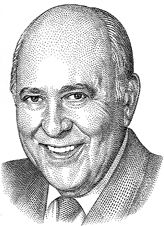 Hedcut Portrait of Carl Reiner by Kevin Sprouls