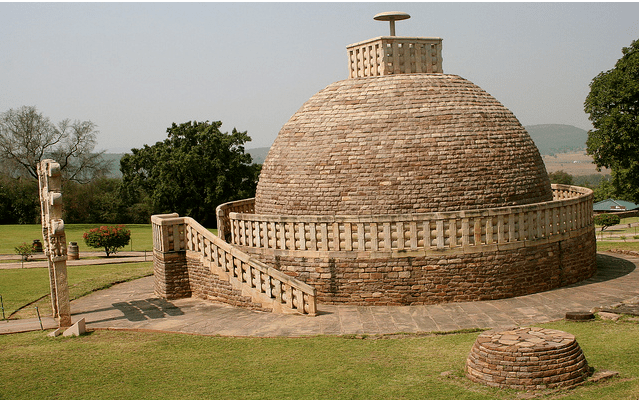 3rd Century BC Sanchi Stupa in Madhya Pradesh, India