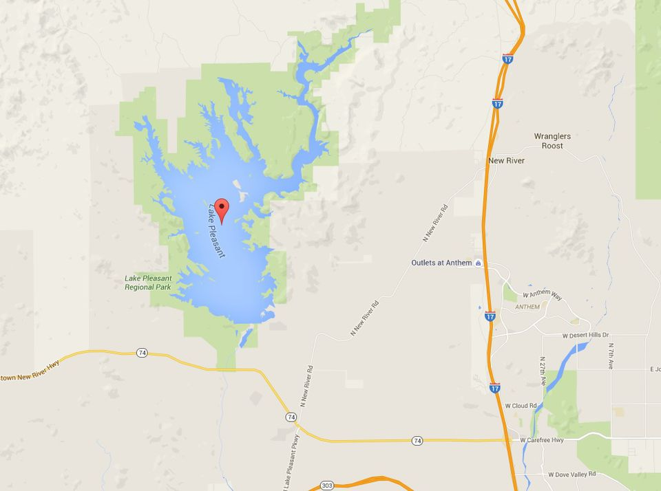 lake pleasant park and marinas map and directions