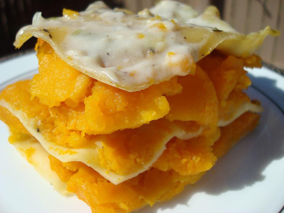 Butternut Squash and Leek Lasagna