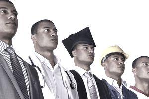 Same worker wearing different uniforms