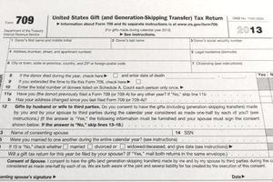 IRS Form 709