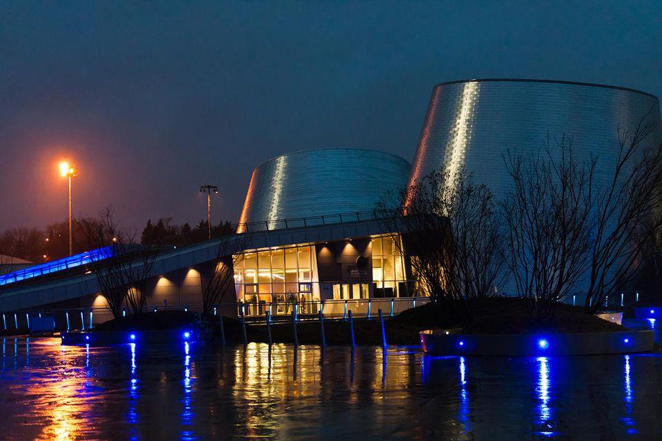Montreal's Planétarium at night
