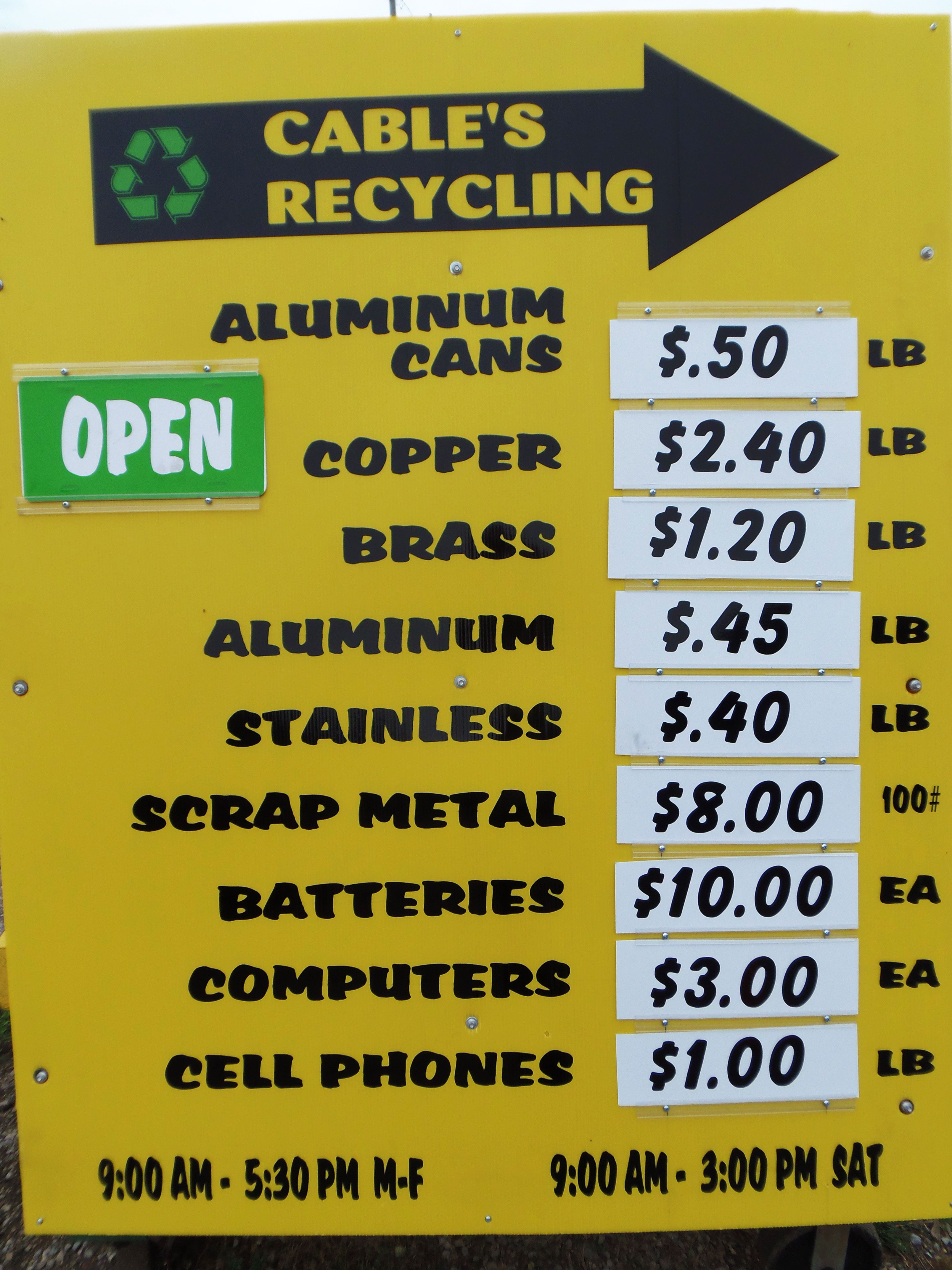 how to paid to recycle
