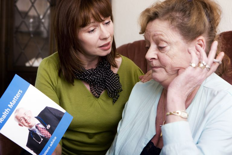 Adult daughter tries to pursuade her mother to quit smoking