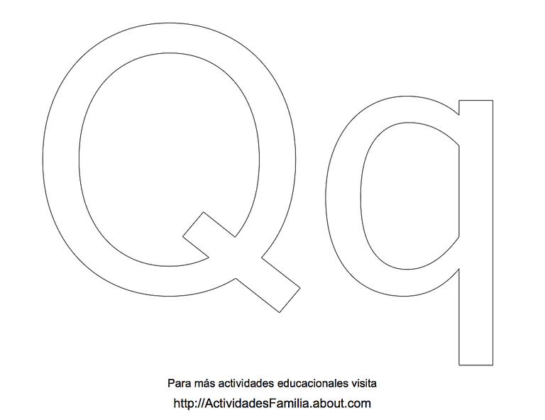Dibujos Para Colorear Letra Q: Letras Para Colorear
