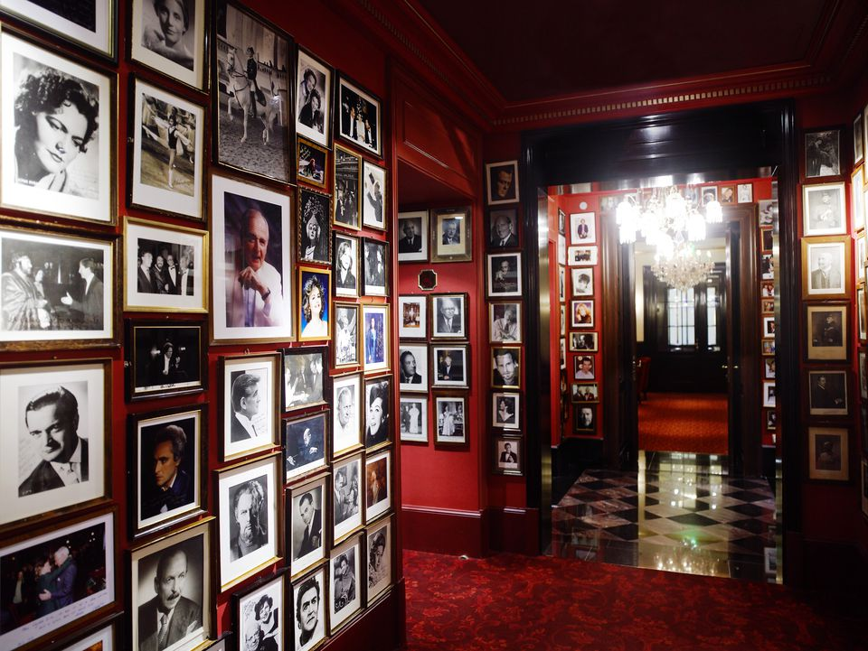 VIP portrait gallery at Hotel Sacher Wien in Vienna
