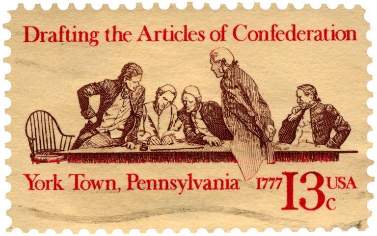 Articles of Confederation First USA Constitution Postage Stamp