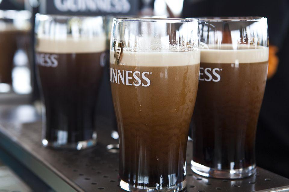 Pints of Guinness at Gravity Bar at Guinness Storehouse