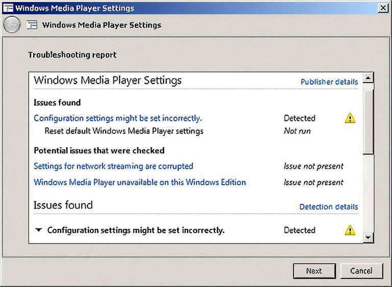 Windows Media Player 12 Reset