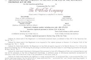 Coca-Cola Form 10-K
