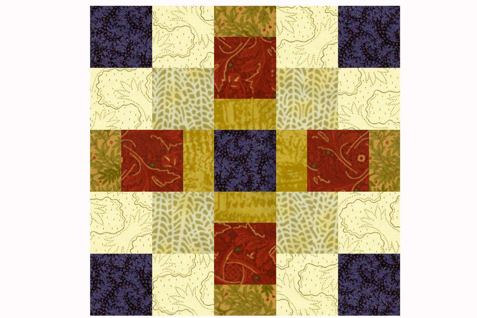 Offset Squares Quilt Block Pattern